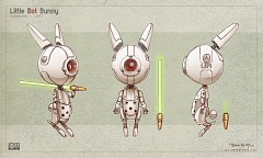 Little Bot Bunny, free model-sheet