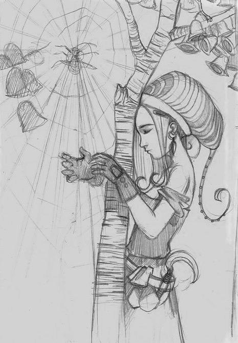 01spiderharp sketch