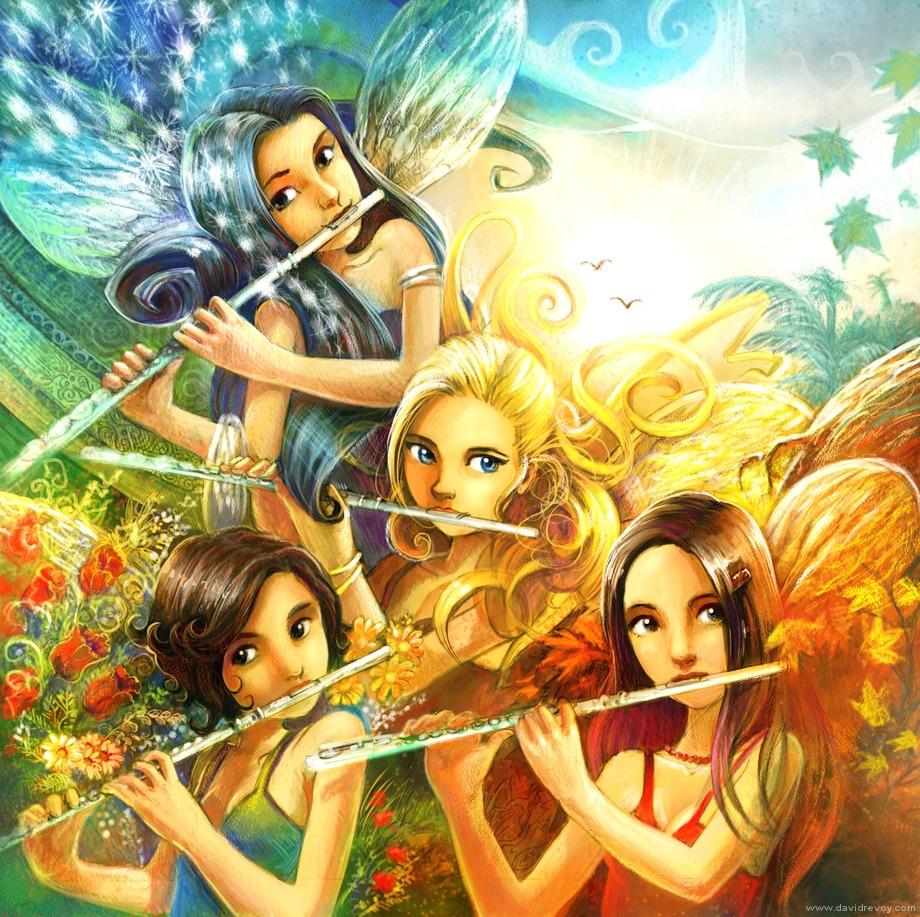 Рисунок фея музыки