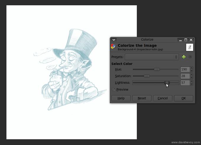 comics colorize with gimp 002