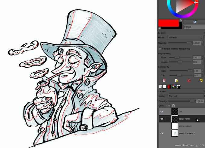 comics colorize with gimp 005