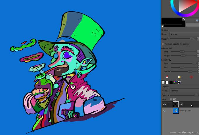 comics colorize with gimp 008