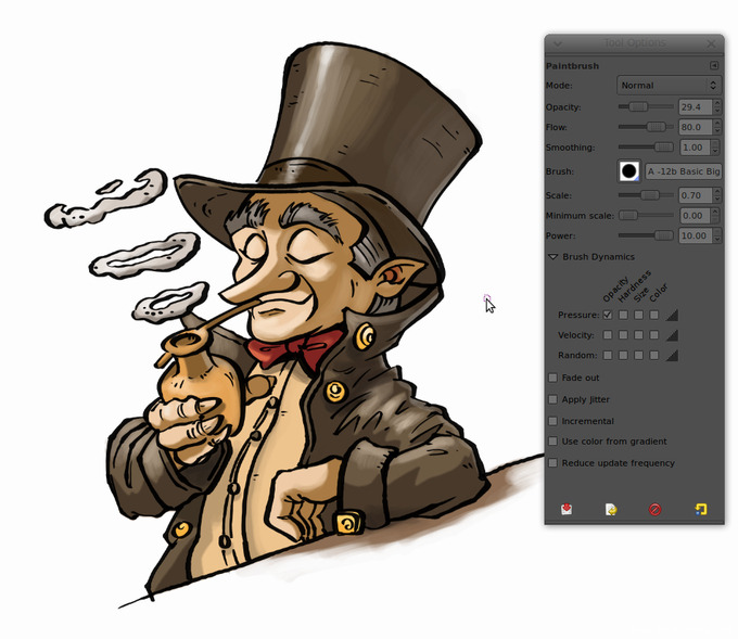 comics colorize with gimp 010