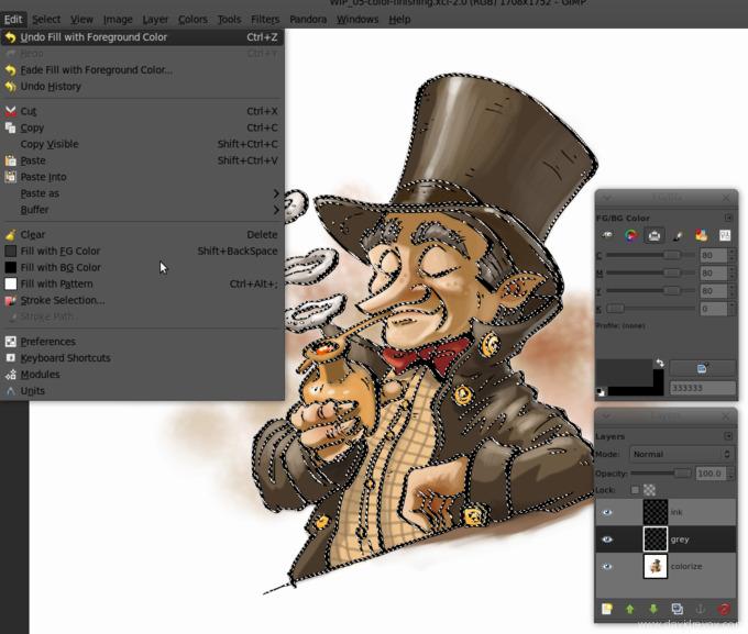 comics colorize with gimp 014