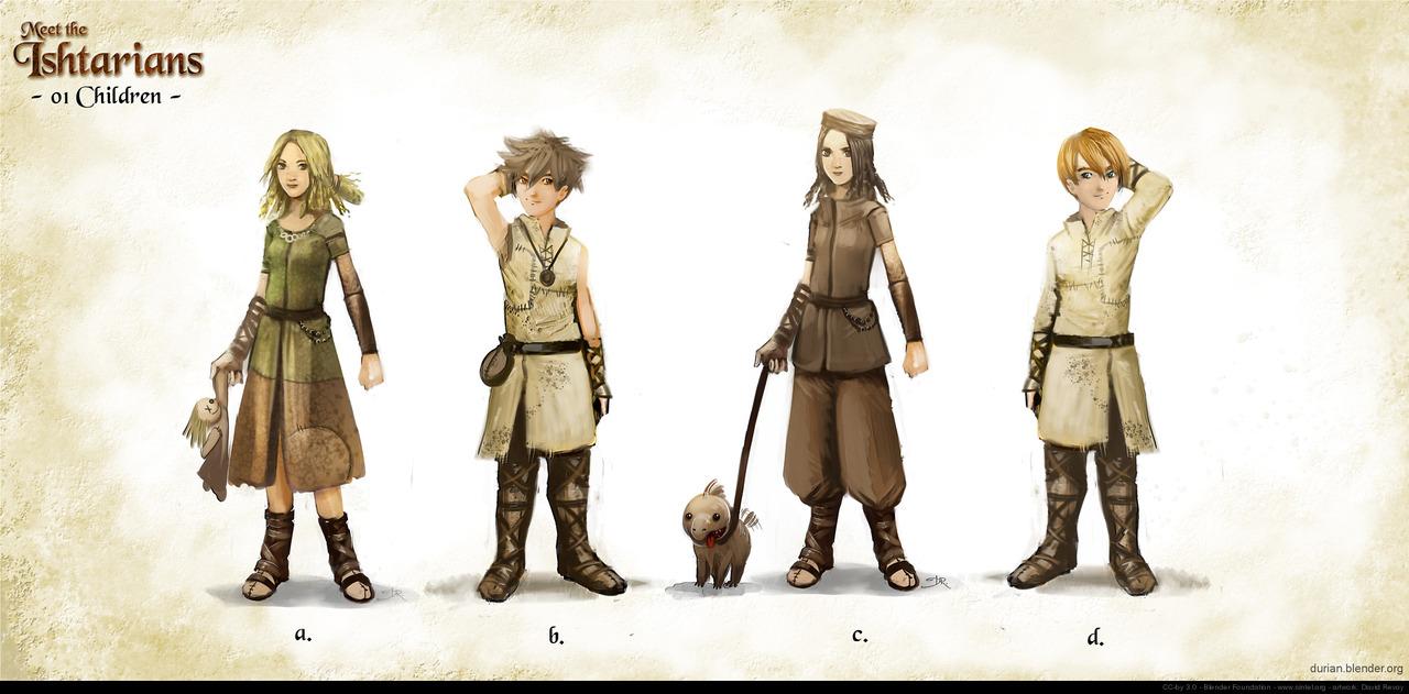 Character Design In Blender : Sintel david revoy