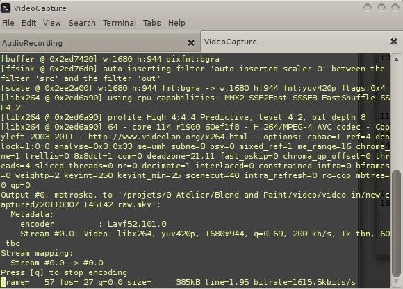 videocapture terminal