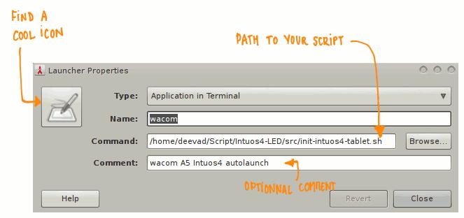 script ledwacom launcher