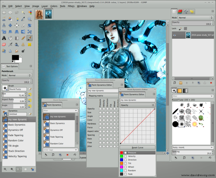 gimp painter 27 current gui dynamic david