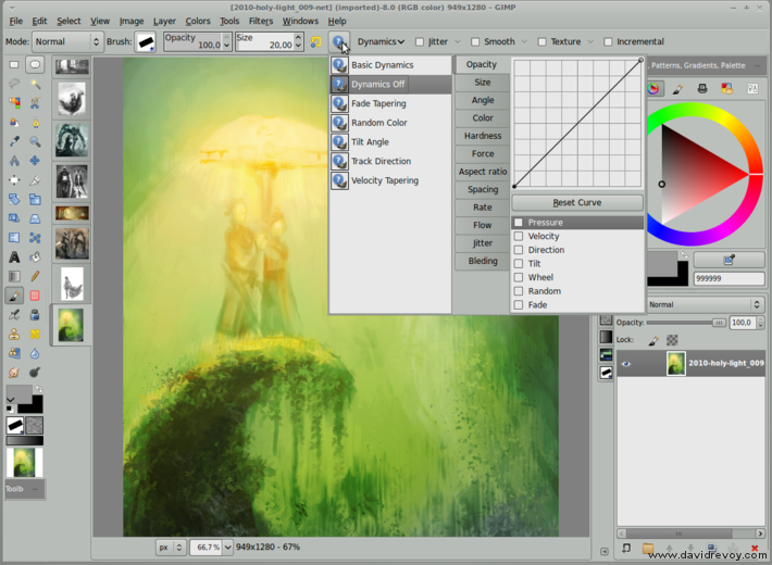 gimp painter 27 elegant dynamic menu david