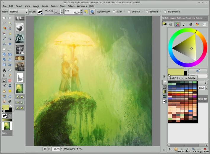 gimp painter 27 fast palette access david