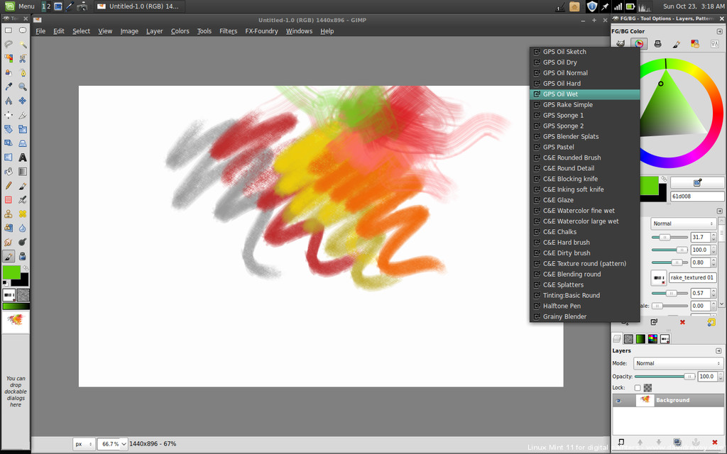 Linux mint 11 for digital painting david revoy Computer art software