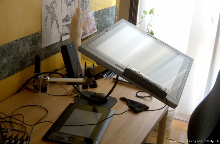 The Ergotron LX Extension Unfolded Surprising To See Screen Is Stable And Dont Move This Cintiq Almost 9Kg
