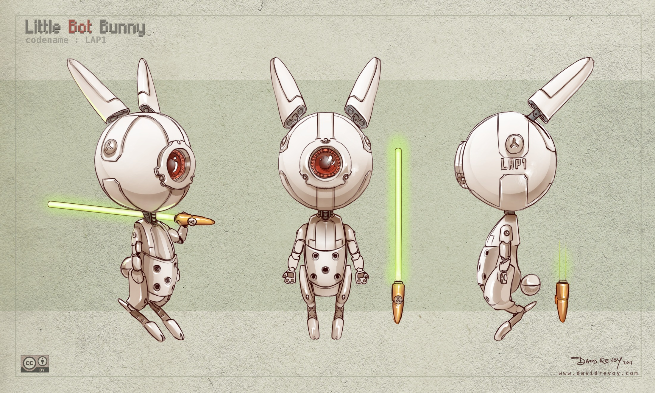 3d Game Character Design Tutorial : Free d model sheet little bot bunny david revoy