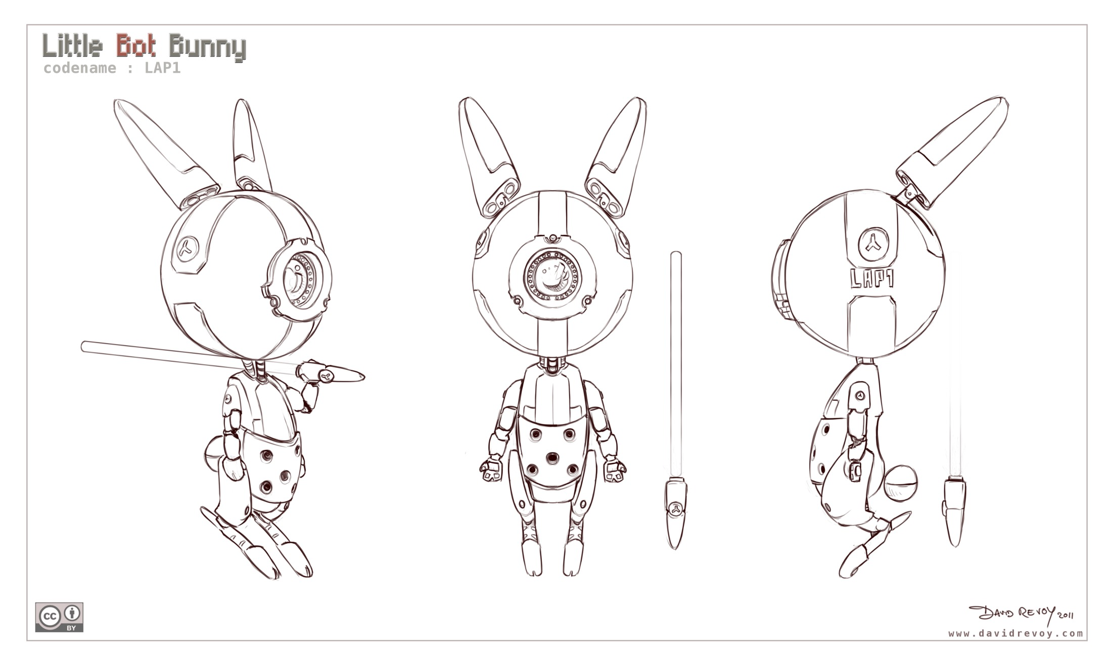 Character Design Reference Pdf : Free d model sheet little bot bunny david revoy