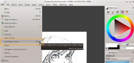 EXPORT GIMP