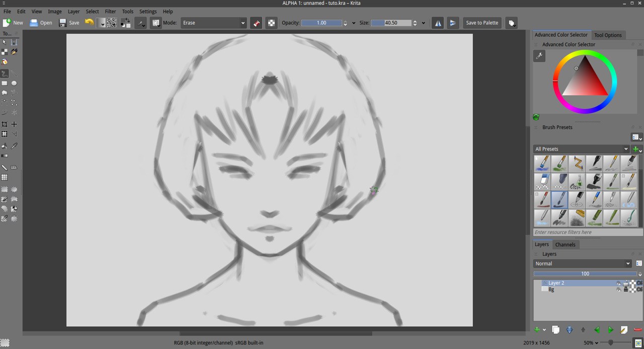 Perfect Liner Pencil Mini Ya Te Long Getting Started With Krita 1 3 David Revoy 8 Block The Shadows Zone Of Your Face If You Are Not Familiar Drawing Or Painting This Skill Is Relative To Capacity Abstract 3d Model