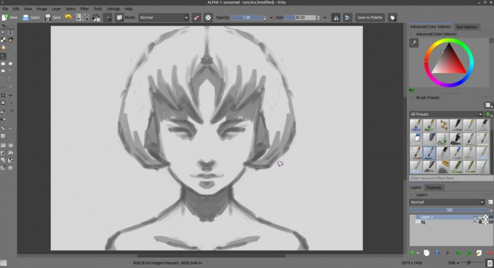 Krita Drawing Line Art : Getting started with krita david revoy