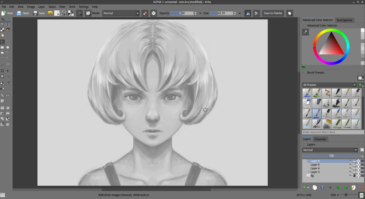 Best Software For Drawing Smooth Lines : Getting started with krita david revoy