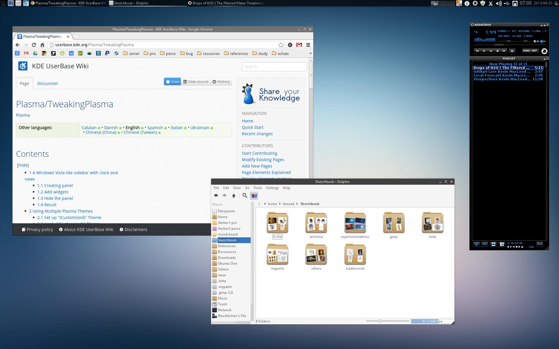 Linux custom KDE theming - David Revoy