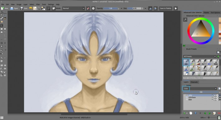 how to change color picker from cntrl krita
