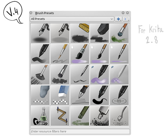 Krita Brushkit v8 2 - David Revoy