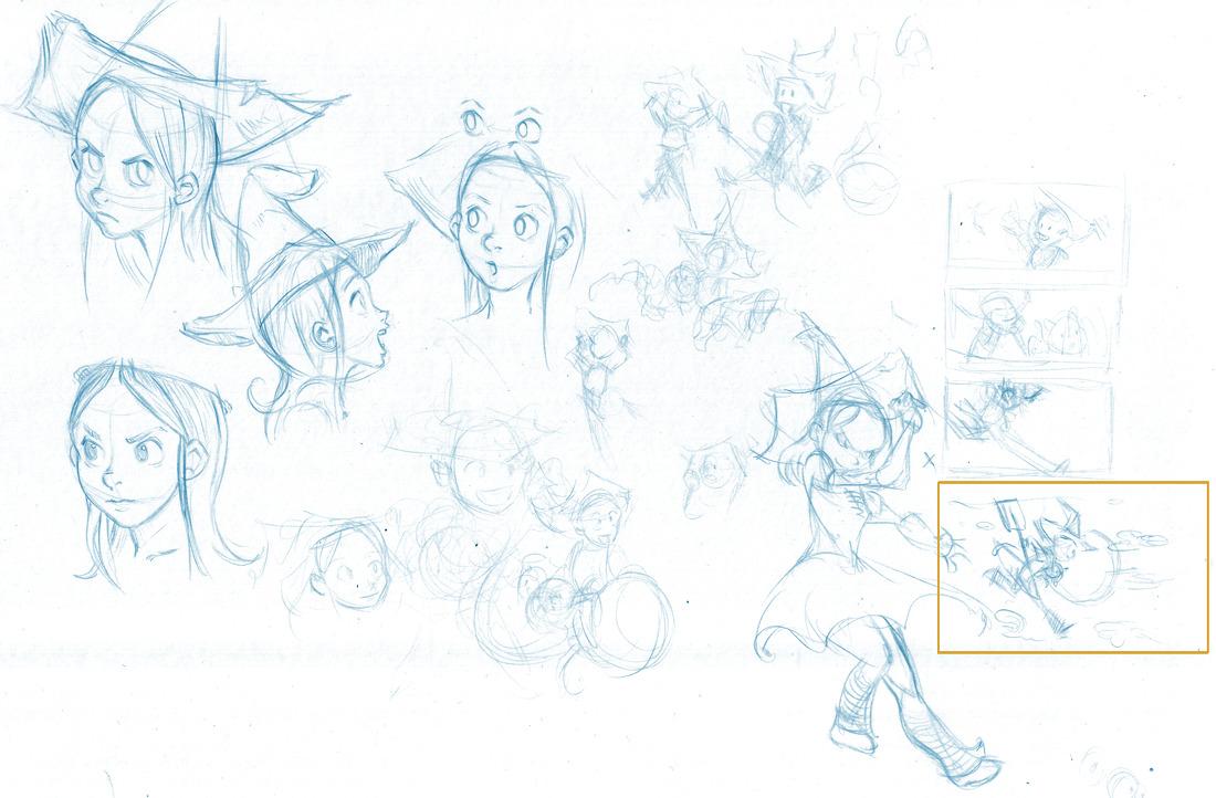 Line Art Krita : From blue sketch to digital in krita david revoy