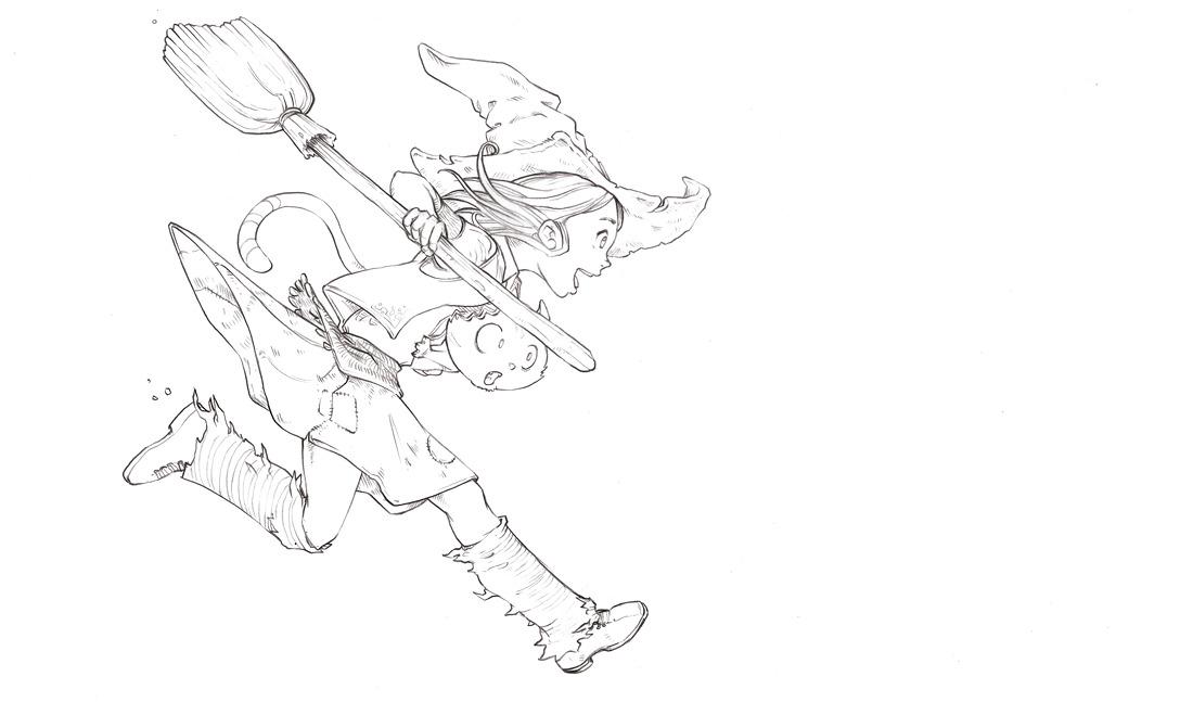 Krita Lineart : From blue sketch to digital in krita david revoy