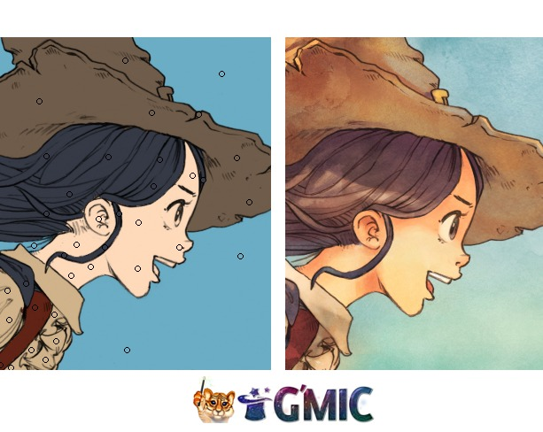 Gmic Line Art Colorization