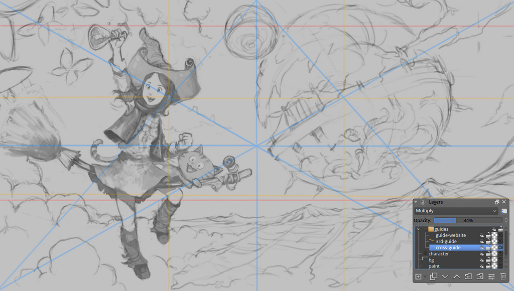 Drawing with values David Revoy