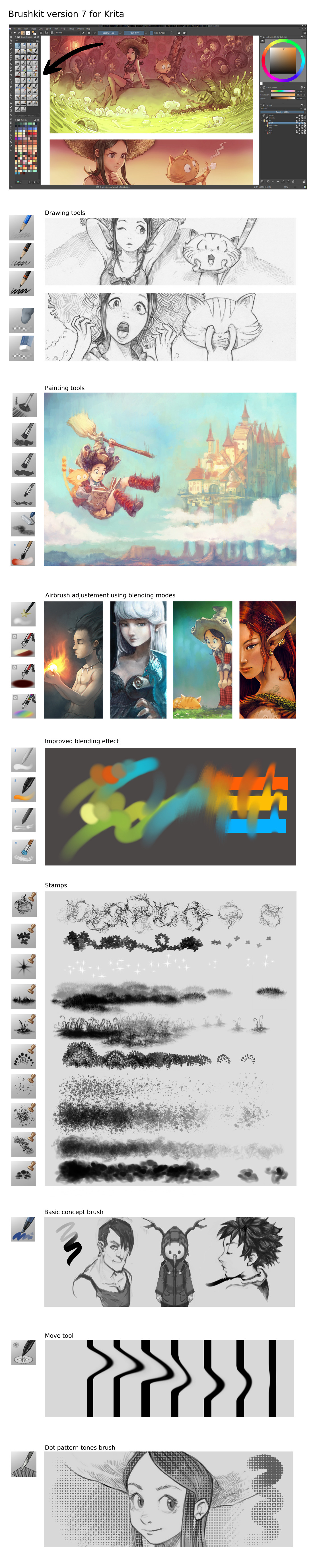 Github Deevad Deevad Krita Brushpresets Brush Presets To Use With The Open Source Digital
