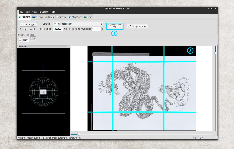 Autostiching scan with Hugin - David Revoy