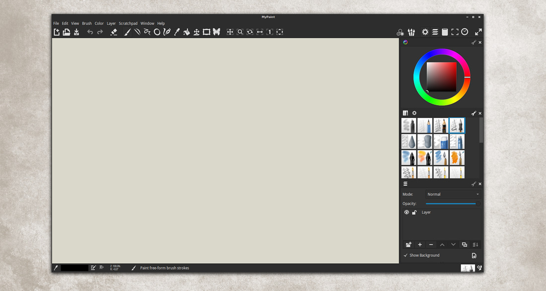 The mypaint ppa for ubuntu linux mint and elementary os Paint for linux