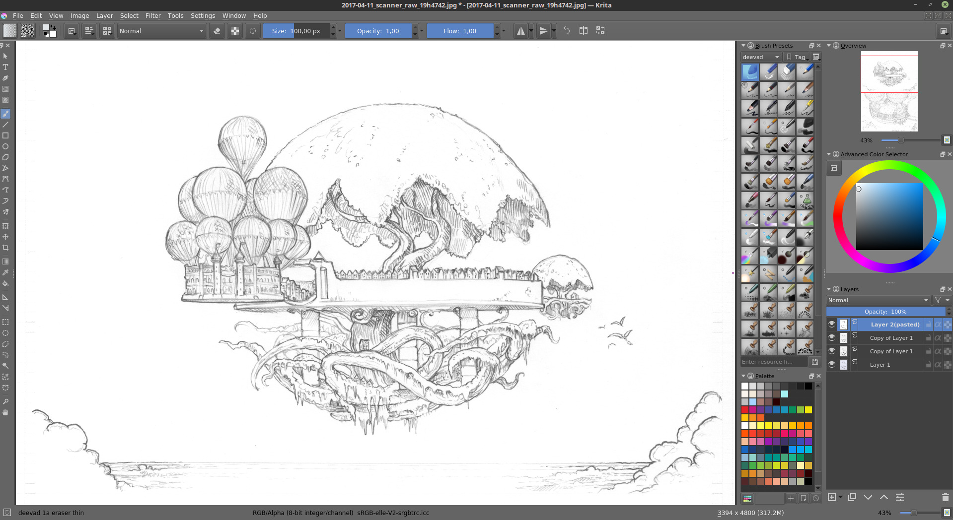 Krita Lineart : Making of episode quot the voting system david revoy