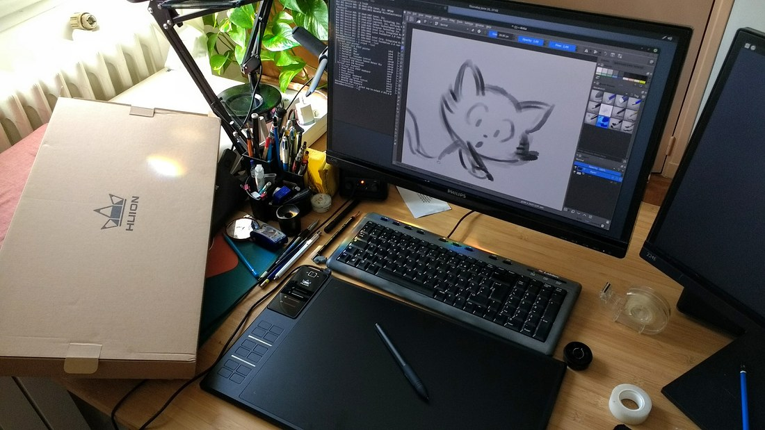 Setup Huion Giano WH1409 tablet on Linux Mint 18 1 or Ubuntu