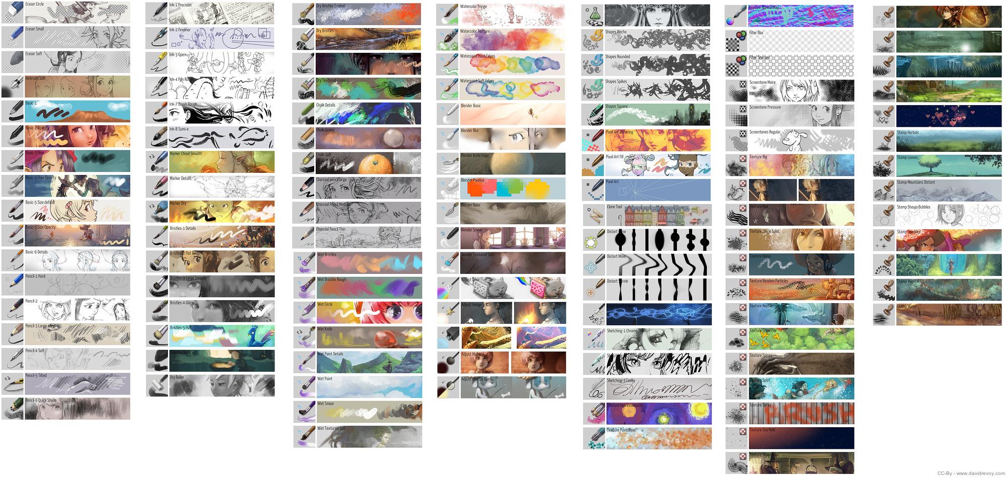 Krita 4 0 Brushes - David Revoy