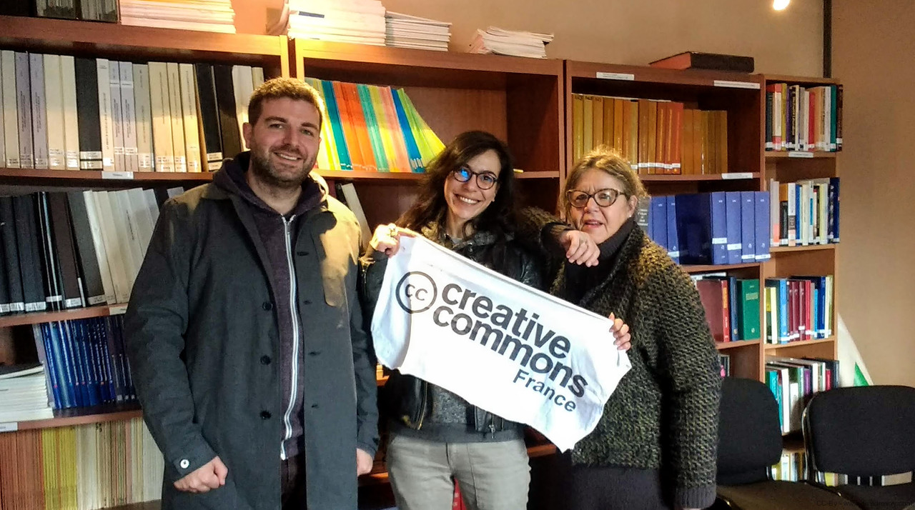 The visit at Creative Commons France