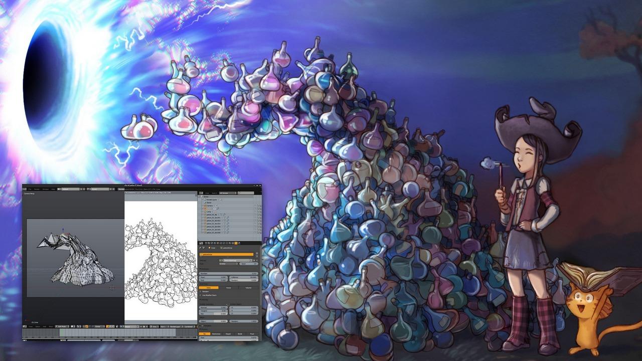 Tons of potions, part 1 : 3D - David Revoy