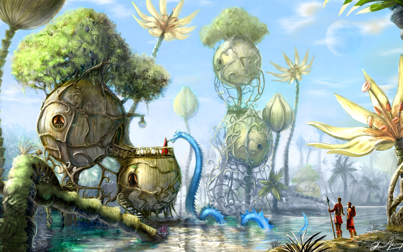 Wallpapers david revoy - Fantasy land wallpaper ...