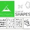 PDF shapes for Alchemy