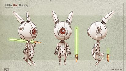 Free 3D model-sheet : Little Bot Bunny