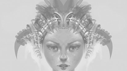 Mirrored speedpainting portraits