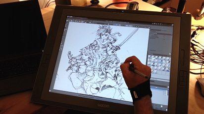 Sketching on Cintiq