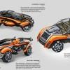 Futuristic car concept-art