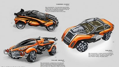 Futuristic car concept-art