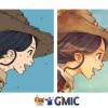 Gmic line-art colorization