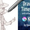 Drawing timelapse and inking with krita, c...