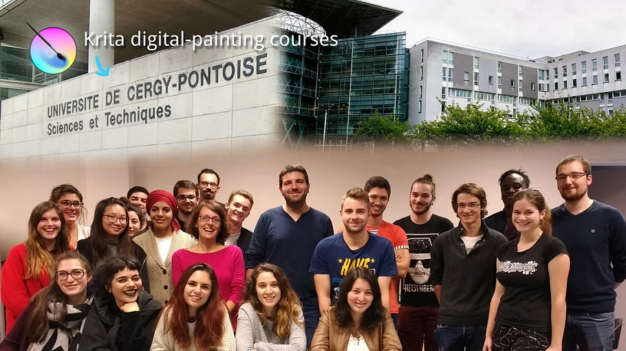 Krita digital-painting courses at University Cergy-Pontoise