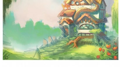 episode 9 background painting work in progress