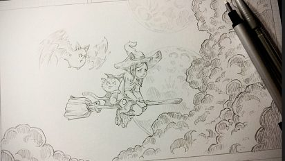 Pencil artworks during the episode 11
