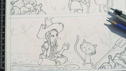 penciling on episode 12